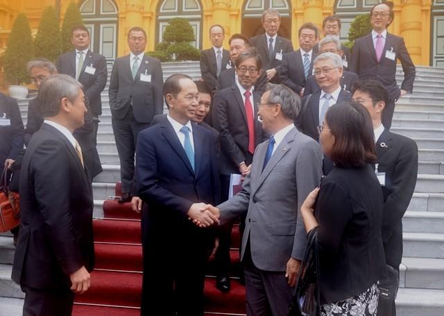 Chủ tịch nước Trần Đại Quang tiếp đoàn Ủy ban Kinh tế Nhật - Việt Keidanren - ảnh 1