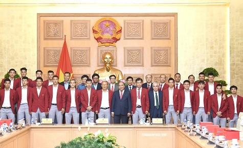 Thủ tướng Chính phủ quyết định tặng bằng khen Đội tuyển Bóng đá Olympic quốc gia - ảnh 1