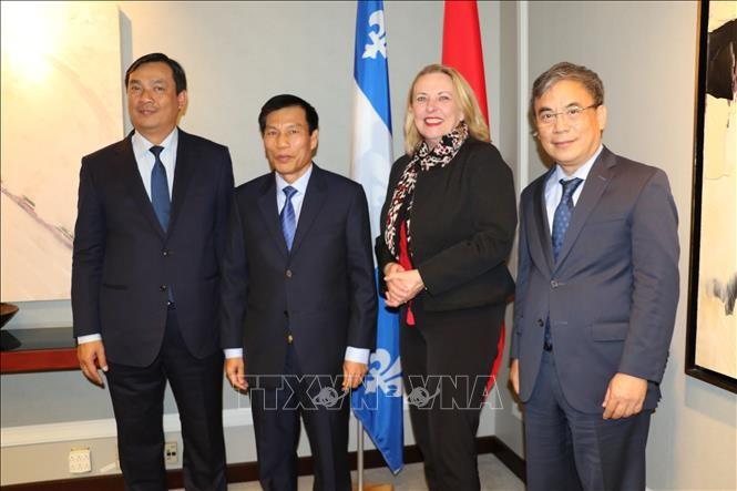 Tăng cường hợp tác giữa Việt Nam và tỉnh bang Quebec của Canada  - ảnh 1