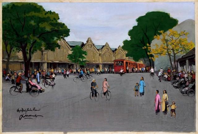 Hà Nội xưa qua tranh của họa sĩ Lê Văn Xương - ảnh 4