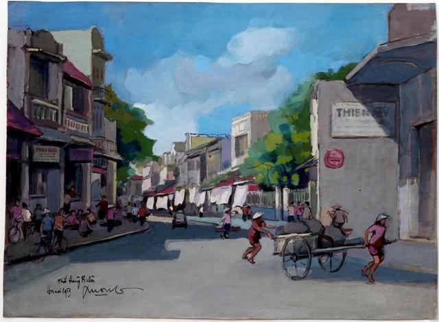 Hà Nội xưa qua tranh của họa sĩ Lê Văn Xương - ảnh 8