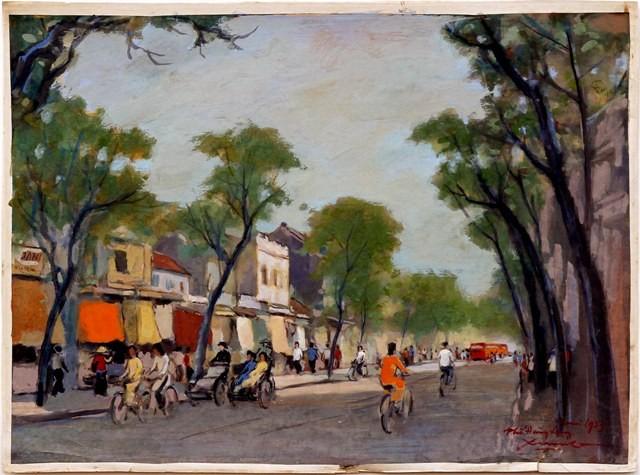 Hà Nội xưa qua tranh của họa sĩ Lê Văn Xương - ảnh 10