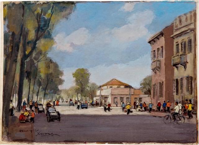 Hà Nội xưa qua tranh của họa sĩ Lê Văn Xương - ảnh 3