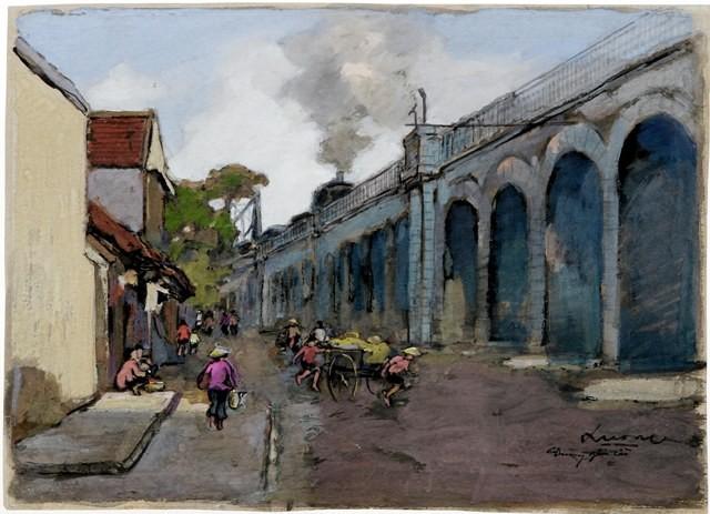 Hà Nội xưa qua tranh của họa sĩ Lê Văn Xương - ảnh 12