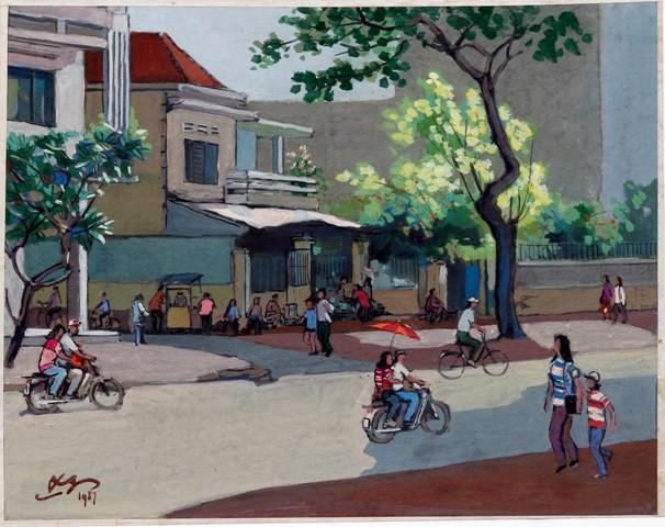 Hà Nội xưa qua tranh của họa sĩ Lê Văn Xương - ảnh 15