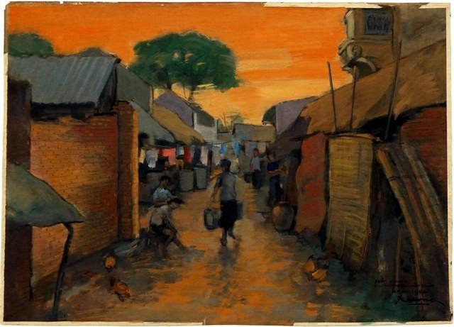Hà Nội xưa qua tranh của họa sĩ Lê Văn Xương - ảnh 14
