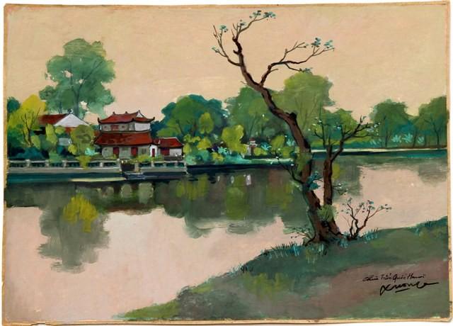 Hà Nội xưa qua tranh của họa sĩ Lê Văn Xương - ảnh 13