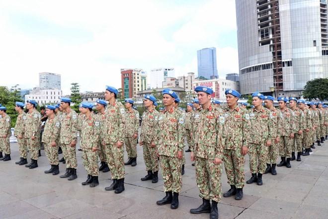 Lực lượng gìn giữ hòa bình Việt Nam lên đường làm nhiệm vụ - ảnh 1