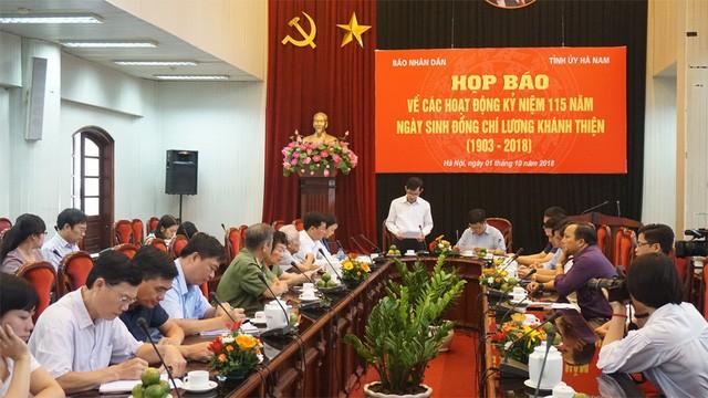 Kỷ niệm 115 năm ngày sinh người cộng sản kiên trung, bất khuất Lương Khánh Thiện - ảnh 1