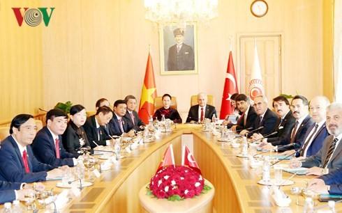 Chủ tịch Quốc hội Nguyễn Thị Kim Ngân hội đàm với Chủ tịch Quốc hội Thổ Nhĩ Kỳ - ảnh 2