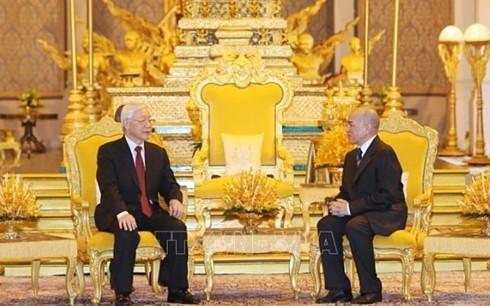 Tổng Bí thư, Chủ tịch nước Nguyễn Phú Trọng kết thúc tốt đẹp chuyến thăm cấp Nhà nước Campuchia - ảnh 1
