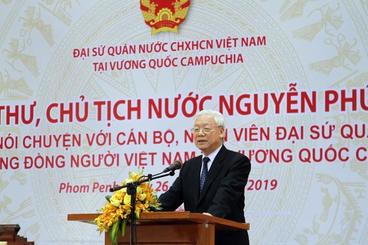 Tổng Bí thư, Chủ tịch nước Nguyễn Phú Trọng kết thúc tốt đẹp chuyến thăm cấp Nhà nước Campuchia - ảnh 3