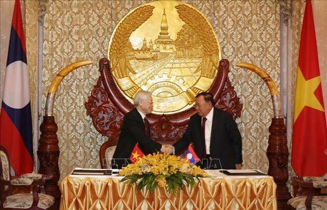 Trưởng ban Đối ngoại Trung ương Hoàng Bình Quân: Tạo động lực thúc đẩy toàn diện quan hệ Việt Nam - Lào, Việt Nam - Campuchia  - ảnh 1