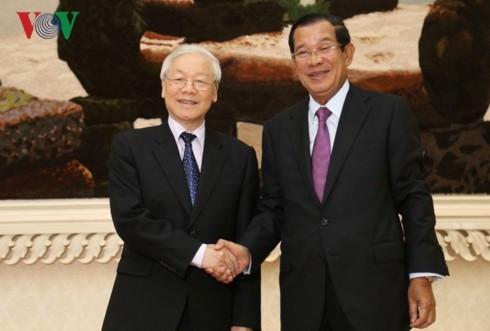Tổng Bí thư, Chủ tịch nước Nguyễn Phú Trọng kết thúc tốt đẹp chuyến thăm cấp Nhà nước Campuchia - ảnh 2