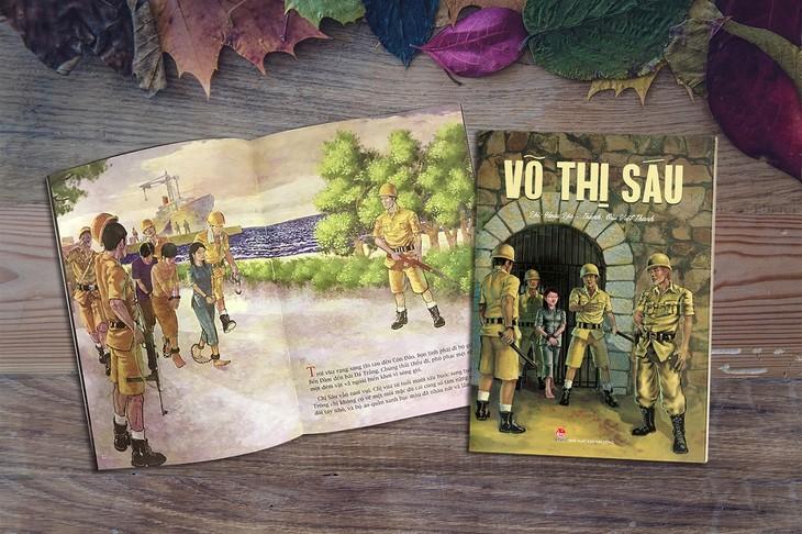 Võ Thị Sáu và Lý Tự Trọng trong sách tranh minh họa khổ lớn - ảnh 2
