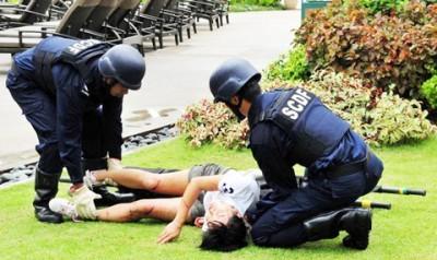 สิงคโปร์ทำการฝึกซ้อมต่อต้านการก่อการร้าย - ảnh 1