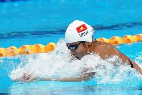 เงือกสาวเวียดนามเหงียนถิแอ๊งเวียนคว้า 2 เหรียญทองในการแข่งขันกีฬาAIMAG5 - ảnh 1