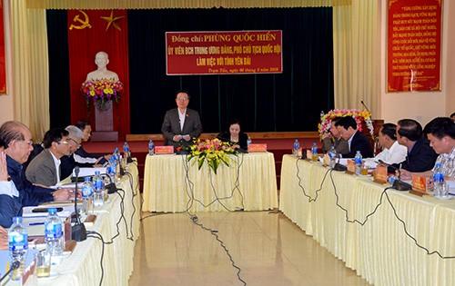 Wakil Ketua MN Vietnam, Phung Quoc Hien: Provinsi Yen Bai perlu mengembangkan keunggulan yang dimilikinya dalam perkembangan ekonomi  - ảnh 1