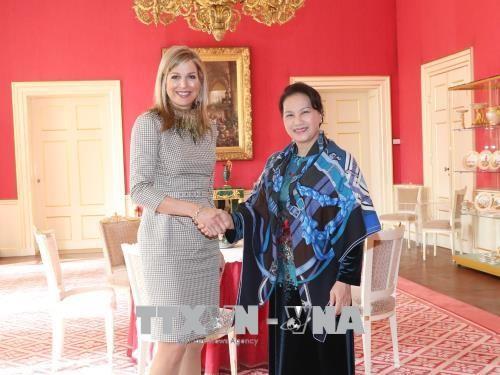 ประธานสภาแห่งชาติเหงวียนถิกิมเงินเข้าเยี่ยมคารวะสมเด็จพระราชินีแม็กซิมาแห่งเนเธอร์แลนด์ - ảnh 1