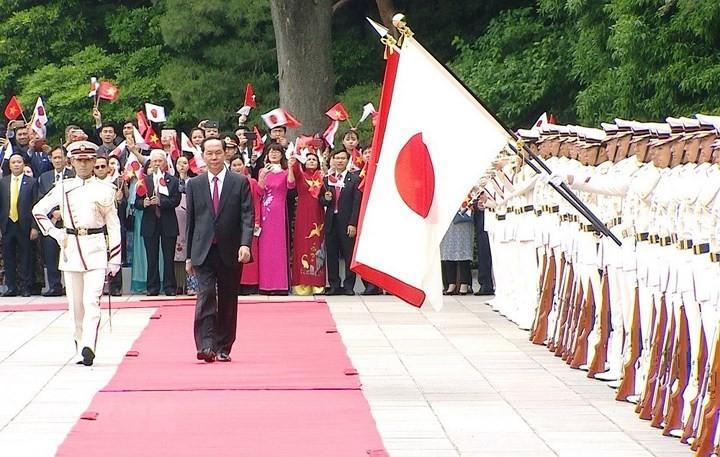 สื่อต่างๆของญี่ปุ่นรายงานเกี่ยวกับการเยือนญี่ปุ่นของท่าน เจิ่นด่ายกวาง ประธานประเทศเวียดนาม - ảnh 1