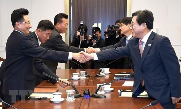 สาธารณรัฐเกาหลีและสาธารณรัฐประชาธิปไตยประชาชนเกาหลีเห็นพ้องจัดทีมกีฬาร่วมกัน - ảnh 1