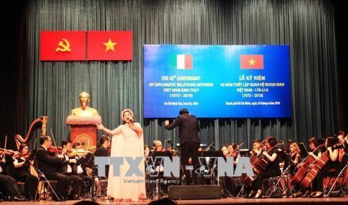 พิธีรำลึกครบรอบ 45ปีการสถาปนาความสัมพันธ์ทางการทูตระหว่างเวียดนามกับอิตาลี - ảnh 1