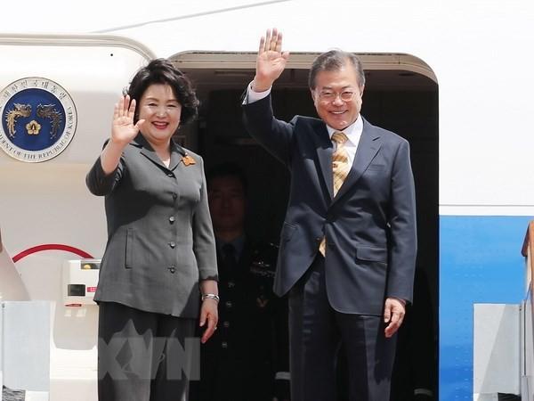 ประธานาธิบดีสาธารณรัฐเกาหลีเยือนประเทศอินเดีย - ảnh 1