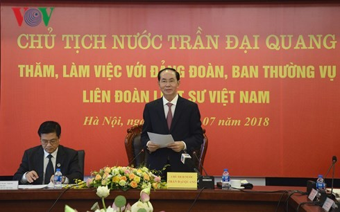 ประธานประเทศเจิ่นด่ายกวางประชุมกับสหพันธ์ทนายความเวียดนาม - ảnh 1