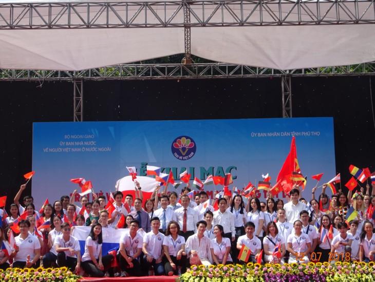 เปิดค่ายฤดูร้อนเวียดนามปี 2018 : 15 ปี - มือประสานมือ เยาวชนเวียดนามทั่วโลก - ảnh 1