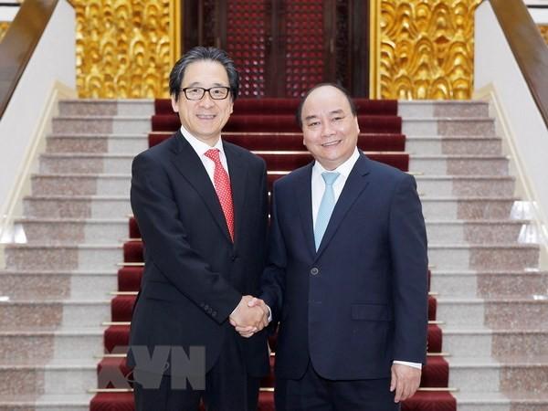 นายกรัฐมนตรีเหงวียนซวนฟุกให้การต้อนรับประธานองค์การส่งเสริมการค้าญี่ปุ่น - ảnh 1