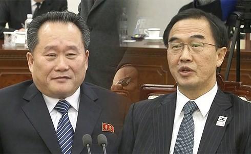 สาธารณรัฐประชาธิปไตยประชาชนเกาหลีส่งเสริมโครงการความร่วมมือก่อสร้างเส้นทางรถไฟกับสาธารณรัฐเกาหลี - ảnh 1
