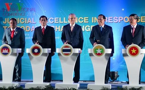 เวียดนามเข้าร่วมการประชุมหน่วยงานศาลและตุลาการระหว่างประเทศ ณ ประเทศไทย - ảnh 1