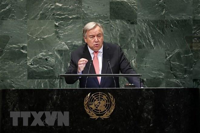 เลขาธิการใหญ่สหประชาชาติเชิดชูบทบาทของผู้นำประเทศต่างๆในการต่อต้านการเปลี่ยนแปลงของสภาพภูมิอากาศ - ảnh 1