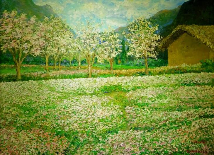 """งานนิทรรศการ """"แสงจากเงา""""-ความงามของเวียดนามจากมุมมองจิตรกรไทย - ảnh 8"""