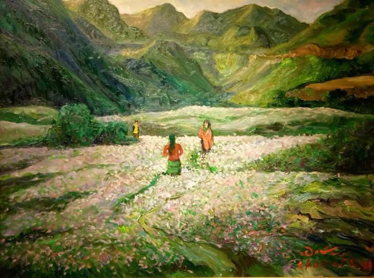 """งานนิทรรศการ """"แสงจากเงา""""-ความงามของเวียดนามจากมุมมองจิตรกรไทย - ảnh 9"""
