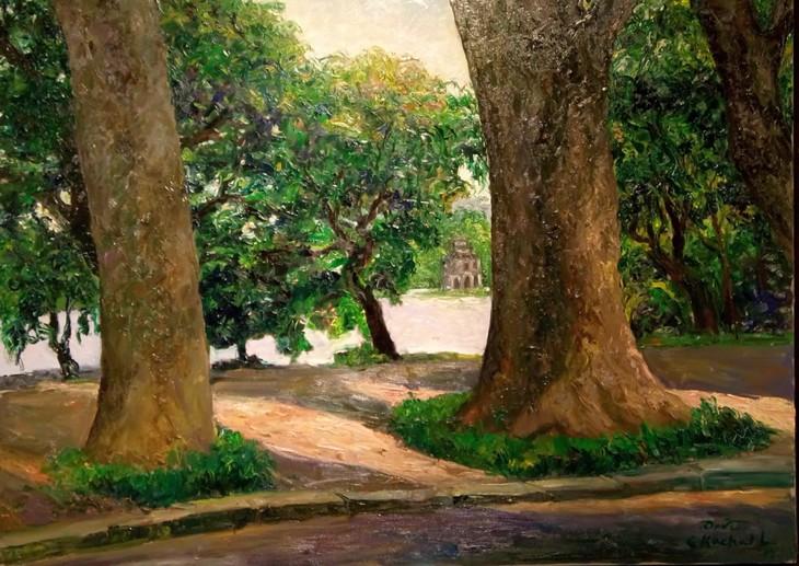 """งานนิทรรศการ """"แสงจากเงา""""-ความงามของเวียดนามจากมุมมองจิตรกรไทย - ảnh 11"""