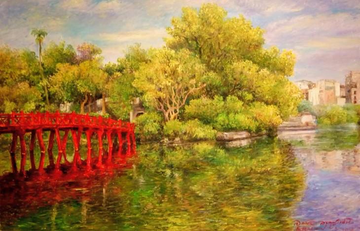 """งานนิทรรศการ """"แสงจากเงา""""-ความงามของเวียดนามจากมุมมองจิตรกรไทย - ảnh 7"""