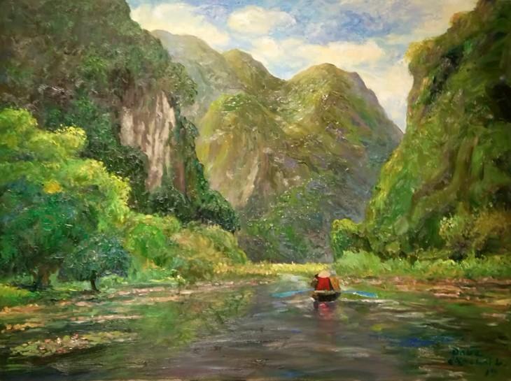 """งานนิทรรศการ """"แสงจากเงา""""-ความงามของเวียดนามจากมุมมองจิตรกรไทย - ảnh 12"""