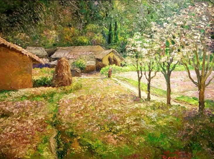 """งานนิทรรศการ """"แสงจากเงา""""-ความงามของเวียดนามจากมุมมองจิตรกรไทย - ảnh 13"""