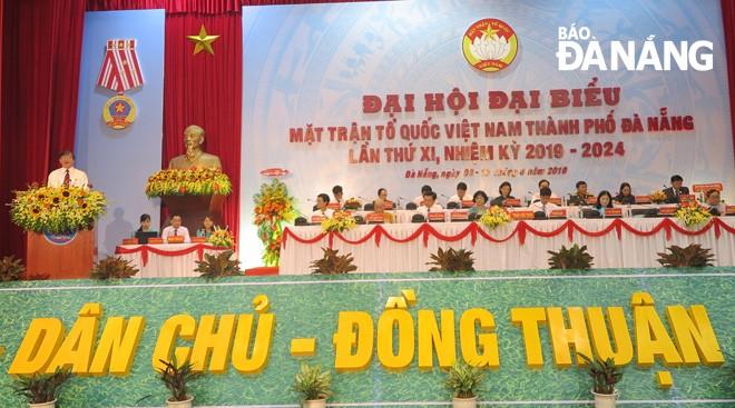 การประชุมใหญ่ผู้แทนแนวร่วมปิตุภูมิเวียดนามสาขานครดานังครั้งที่ 11 - ảnh 1