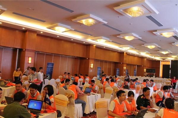 การฝึกซ้อมการรักษาความมั่นคงทางอินเตอร์เน็ตในภาคเหนือเวียดนาม - ảnh 1