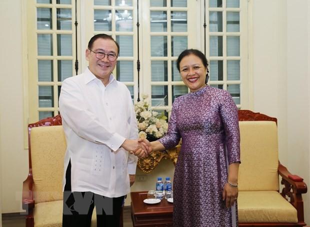 ส่งเสริมความร่วมมือมิตรภาพและการพบปะสังสรรค์ระดับประชาชนระหว่างเวียดนามกับฟิลิปปินส์ - ảnh 1